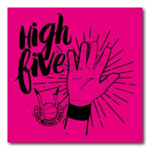 Logo HIGH FIVE morado